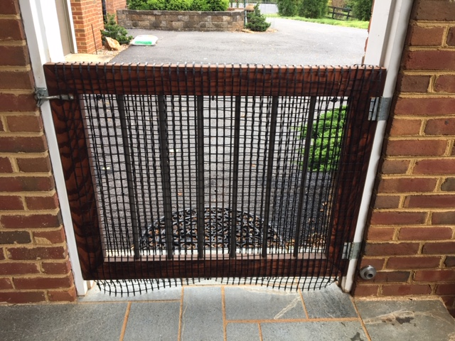 fence wrapped gate